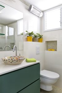 עיצוב אסלה וארון מקלחת פרויקט הדירה