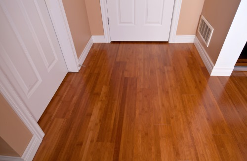 פרקט עץ טבעי במסדרון